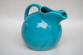 homer laughlin vintage pottery turquoise water pitcher vintage homer laughlin woolworths
