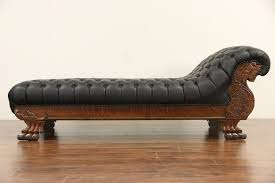 Antique Chaise Lounge Sofa by Sold Victorian Lion Carved 1900 Antique Oak Chaise Lounge Or