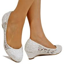 wedding shoes low wedges new bridal low wedge heel ivory white satin floral lace