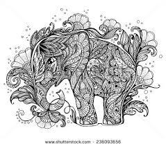 beautiful handpainted elephant ornament elephant stock