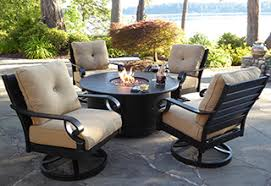 metal patio table and chairs covers for lawn furniture elegant outdoor patio set with fire pit