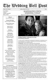 Newspaper Wedding Program Custom Mini Newspaper Format Wedding Program Diy By Aweddingdesign