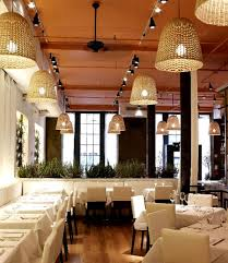 luxury cuisine with modern restaurant interior design of fig and