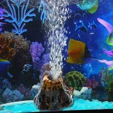 aquarium volcano shape air oxygen fish tank