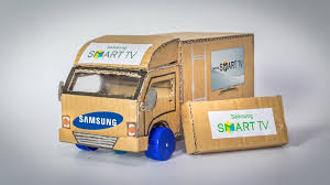 amazing samsung truck out of paper diy how to make a truck