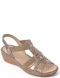 cushion walk ladies cushion walk wedge sandal bronze women u0027s shoes