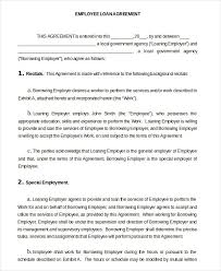loan agreement template 11 free sample example format free