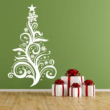 Christmas Decorations Wall Tree by Christmas Tree Vinyl Wall Decal Christmas Decorations Large