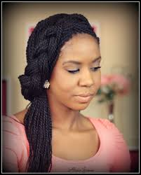 french braid with senegalese twist done by brittney anderson