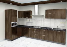 Godrej Kitchen Interiors Godrej Kitchen Invite L Shape 2 Tone Kitchen