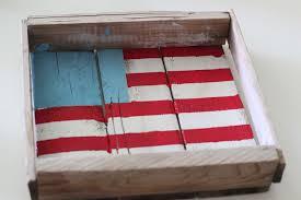 Reclaimed Wood Flag Rustic Painted American Flag Honeybear Lane
