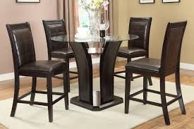 dining room counter height tables counter height 36 inch high table round glass dining table
