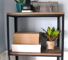 Industrial Metal Bookshelf Remodelaholic Wood And Metal Ikea Hack Industrial Shelf