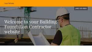 contractor building foundation contractor website templates godaddy