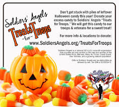 donate your excess halloween candy to give a sweet treat to troops