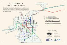 Route 66 Map Phelps County Missouri Bicycling Map Route 66 Bicycles Rolla