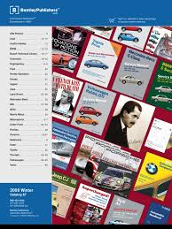 bentley publishers catalog of67 audi car manufacturers of germany
