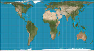 map of ta area cylindrical equal area projection