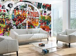 photo wallpaper hippie graffiti street art wall murals