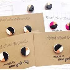 polymer clay stud earrings real gold leaf gold foil minimalist polymer clay stud earrings
