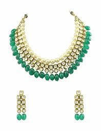 green emerald necklace images Buy emerald green vilandi kundan necklace set jewellery for women jpg