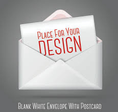 blank cards envelopes stationery vector free vector in encapsulated