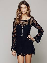 adorable bell sleeve lace dress huge comeback in fashion