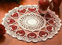 heart doily w511 crochet pattern only ring of heart doily