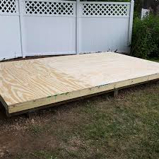 how to level and install a shed foundation