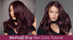 Try On Hair Color App Midnight Rose Hair Color Tutorial Youtube