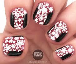 nail art prada color blocked and floral inspiration more com