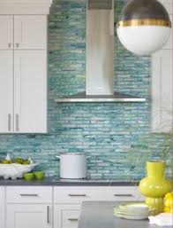 Coastal Backsplash Ideas Bluegreenglasstilebacksplashjpg - Green kitchen tile backsplash
