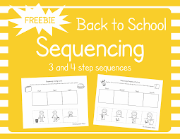 these free back to sequencing cut and glue worksheets are