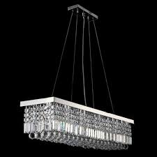 Chandelier Ceiling Lights Aliexpress Com Buy Long Size Rectangle Crystal Pendant Light