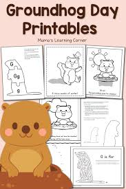 free groundhog day printables mamas learning corner