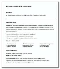 Warehouse Jobs Resume by Warehouse Worker Resume Template Httpgetresumetemplateinfo3295