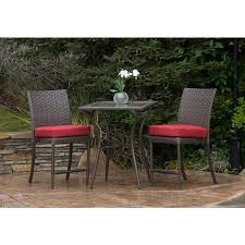better homes and gardens rushreed balcony height 3 piece outdoor