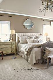 neutral master bedroom french style restoration hardware bedding