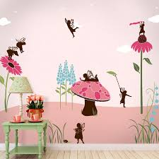 fairy wall mural stencil kit girls room or baby nursery details this fairy themed wall mural