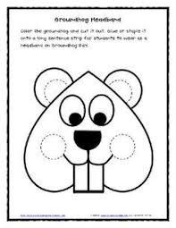 groundhog coloring groundhog