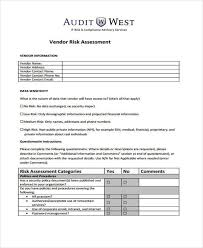 security risk assessment template example natural man made risk