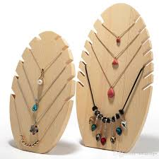 necklace storage display images 2018 new design wooden necklace display holder jewelry display jpg