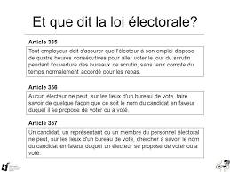 tenir un bureau de vote formation au québec on vote buts comprendre le