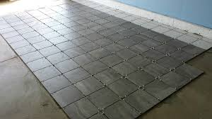 Garage Floor Tiles Cheap A Porcelain Tile Garage Floor Installation And Review All Garage
