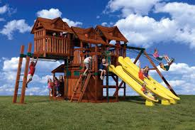 cool cubby with slides monkey bars and swings cubby tree houses