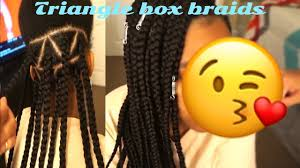 box braids with 2 packs of hair how to triangle part box braids using only 2 packs of hair