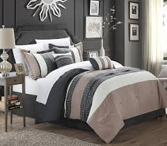 Dimensions Of A Queen Size Comforter Amazon Com Chic Home Carlton 6 Piece Comforter Set Queen Size