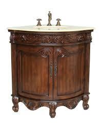 Antique Bathroom Vanity Lights Adelina 24 Inch Corner Antique Bathroom Vanity Light Walnut Finish