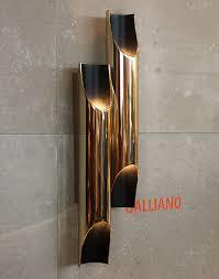 galliano retro tube wall lamp lobbies iron and living rooms
