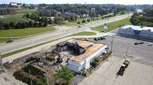 stockton spirit halloween store building demo among latest developments in dubuque u0027s plaza 20